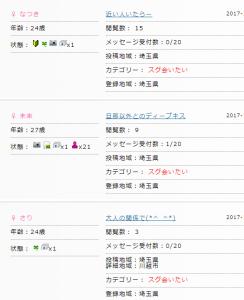 埼玉県内で援助交際募集の書き込み